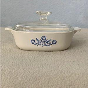 Cornflower Casserole Dish - Corning Ware w/Lid